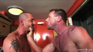 Liam Reid and Korben at world of men