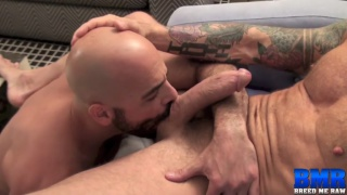 Rocco Steele sticks his 10x7 raw cock in Adam Russo