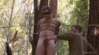 bound in the woods, christian wilde begs to unload