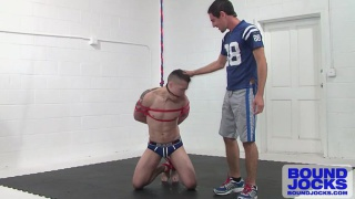 feeding a tied up cocksucker