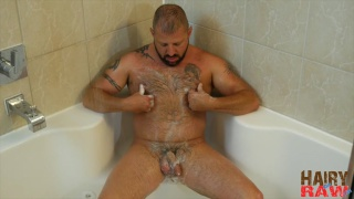 Bearded, tattooed Cooper Hill jacking off