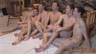6 guys play naked twister and fuck