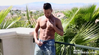 Dominic Pacifico jacking off in Las Vegas