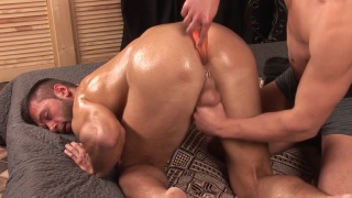 milan gets a vibrator up his bum