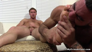 Ricky Larkin Worships Connor Maguire's bare Feet