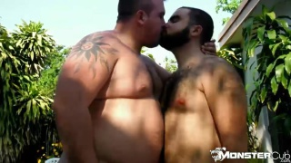 Rhino and Hunter fuck by the pool