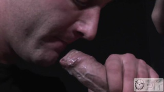 jonny sits on james thick uncut cock