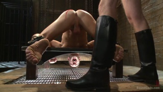 master trains a hung slave with a nice butt