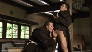 2 horny monks shed their habits