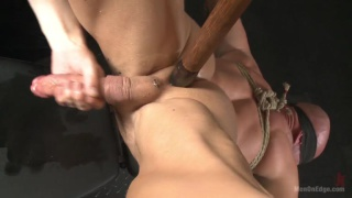 bound Mitch Vaughn gets cock edged