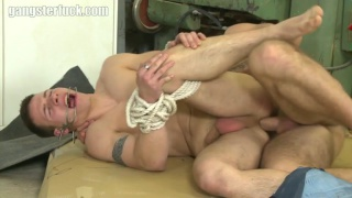 cute guy roped and fuck