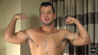 muscle hunk mario does a porno audition