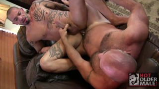 bottom pounded by even bigger cock than his own