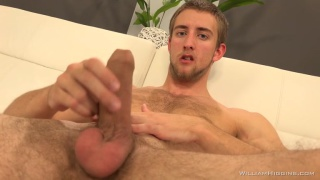 blond czech karel has thick uncut cock and very furry ass