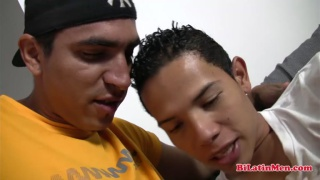 latin bottom gets a crooked cock bare