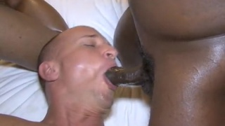 one raunchy white boy takes three black dicks