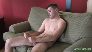 clean-cut and whole adam jacking his boner