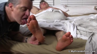 Jake west gets his big feet worshipped