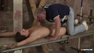 Twink Stretched on a rack And Stroked
