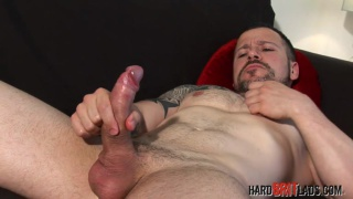 sexy hungarian hunk jacks his uncut dick