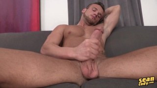 sean strokes his huge cock