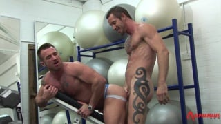 Muscle-bound Gym Sex with Rocco Banks and Ross Hurston