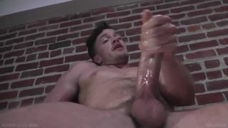 Lucas Knight stroking his ample cock for TIM Jack