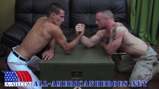 Sergeant Miles sits on a big fat uncut dick