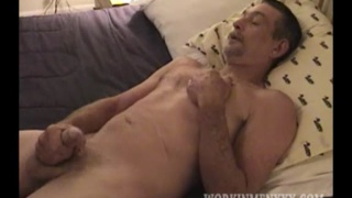 big-dick roofer jacks his cock