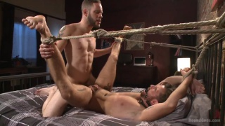 brendan patrick tied up and fucked by wolf hudson