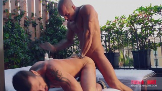 bearded bottom gets fucked by his hunky spanish neighbor