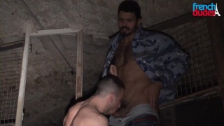 sucking dick in a dirty basement