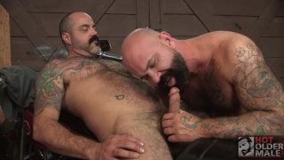 sexy daddies fucking on motorcycle