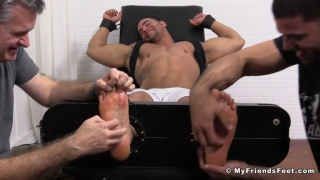 muscle stud Tony is very ticklish
