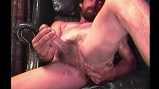 handsome bearded redneck fingers his hole