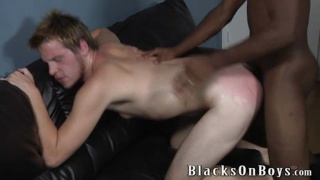 black top fucking and smacking white bottom's rear end
