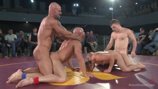 fourway naked wrestling - Mitch Vaughn, Doug Acre, Eli Hunter and Tatum