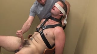 Brady Hansen tied up and edged