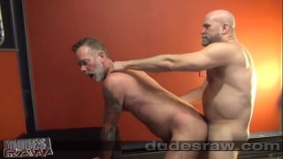 grey-bearded daddy takes a thick cock