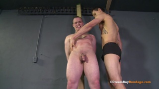 bound handyman forced to get hard and stay hard