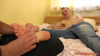 kinky boys play with each other's feet