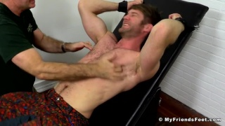 Stud Colby Keller Tied Up and Tickle Tortured