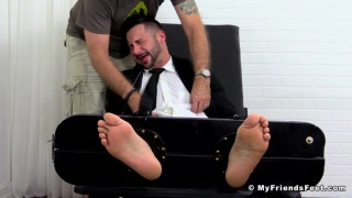 Burly Hunk Yoel Tied Up and Tickle Tortured