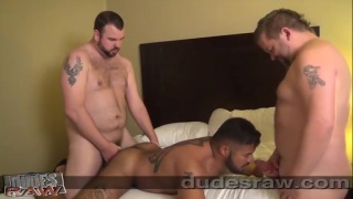 power bottom rico vega gets two big dicks