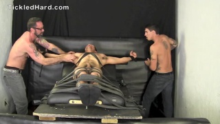 Straight hunk Victor is very ticklish