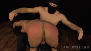 masked spanker punishes andrej's ass