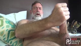 grey daddy Jack Sullivan jacks his big dick