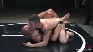 Patrick Rouge vs Wolf Hudson in naked wrestling