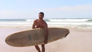 greek surfer Christos gets naked