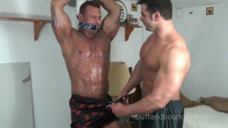 buff tyler lee strung up and tickled